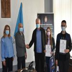 Ученици Алексиначке гимназије на пријему код председника Oпштине